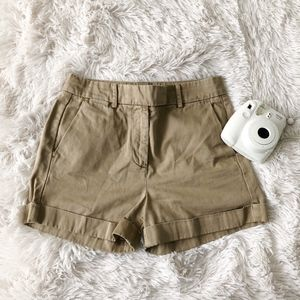 J.Crew dark khaki chino shorts with pockets